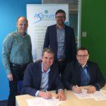 Het contract voor Astrium Overheidsaccountants wordt ondertekend door ANG en Astrium.