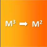 m3 naar m2